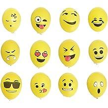 Yizhet 100 uds globos Emoji diferentes Mis globos globos de helio del estado de ánimo de la decoración para las Fiesta Boda Cumpleaños Navidad Reunión Ceremonia etc (tipo de expresión no se puede seleccionar)