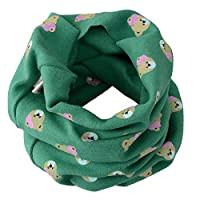 Soudittur Kids Scarves Cotton Neckerchief Baby Boy Girl Neck Warm Scarf for Winter Automn (Green)