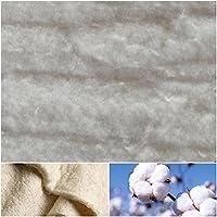 DIE NÄHZWERGE Baumwoll-Volumenvlies 100g/m² 200g/m² aus ungebleichter 100% Baumwolle | Baumwollvlies Baumwolle Baumwollwatte Steppen Quilten Ökotex (100x200cm, 200g/m² (Stärke: ca. 18mm))