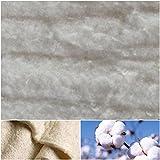 DIE NÄHZWERGE Baumwoll-Volumenvlies 100g/m² 200g/m² aus ungebleichter 100% Baumwolle | Baumwollvlies Baumwolle Baumwollwatte Steppen Quilten Ökotex (50x200cm, 200g/m² (Stärke: ca. 18mm))