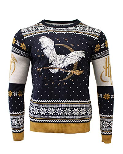 Preisvergleich Produktbild Harry Potter Christmas Jumper Ugly Sweater Hedwig for Men Women Boys and Girls