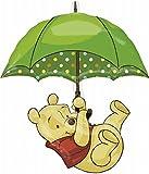 Anagram 2232201 - Party und Dekoration - Folienballon SuperShape - Disney WinniePooh mit Regenschirm, circa 76 x 89 cm