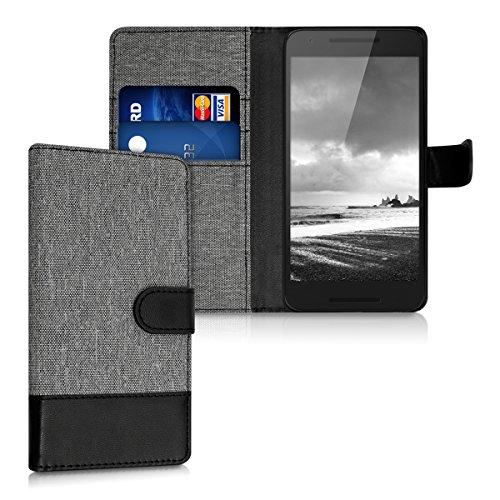 kwmobile LG Google Nexus 5X Hülle - Kunstleder Wallet Case für LG Google Nexus 5X mit Kartenfächern & Stand