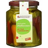 Tegut Rote und grüne Pfefferonen mit Frisch-Schafskäsecreme, 125 g