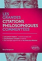 Les Grandes Citations Philosophiques Commentées