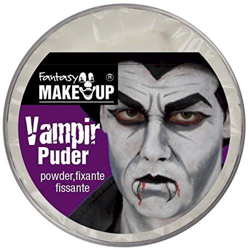 Festartikel Müller Weißes Vampir Puder 24g Schminke Halloween Dracula Fasching (Weißes Halloween Für Puder)