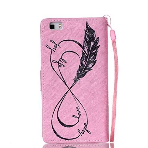 Trumpshop Smartphone Case Coque Housse Etui de Protection pour Huawei P8 Lite + This iPhone is Locked + Smartphonecoque Portefeuille PU Cuir Anti-Choc flèche de Cupidon