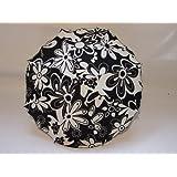 W-sueños de sombrilla de diseño para de los niños de a carrito de paseo diseño de color negro con color blanco y diseño de flores y lazo de diámetro de la 68 cm + para el sol de luz ultravioleta de la protección de 50 fijación especial para toldos de la protección de