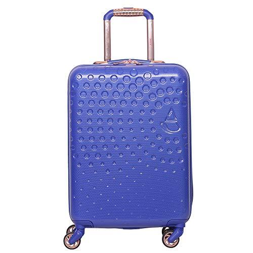 Aerolite Leggero ABS Ruota rigida 4 Ruote Carry On Travel Trolley Bagaglio a mano Valigia con porta USB incorporata per caricabatterie,Omologato per Ryanair,British Airways,Colore(Blu reale)