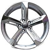 Yx-outdoor Auto Leichtmetallfelgen, 16-20 Zoll Reibungsbeständig, kein Bruch, Geeignet für Audi A3 A4l A5 A6l A7 A8 S6 Q5 (1 STÜCK),Silver,18X8J