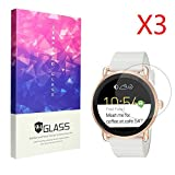 Ceston 9H Protection Ecran En Verre Trempé Pour Smartwatch Fossil Q Wander (3 Pack)