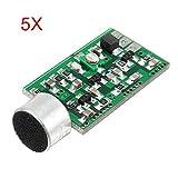LaDicha 5 Pcs Fm Sans Fil Microphone Ramassage Transmetteur Audio Sans Fil Fm Emission Mic Core Conseil V4.0 100 Mhz