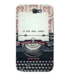 Printvisa Vintage Typewriter With A Quote 3D Hard Polycarbonate Designer Back Case Cover For Samsung Galaxy Note 2 :: Samsung Galaxy Note 2 N7100