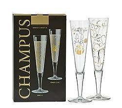 2er Set Ritzenhoff Design Champagnerglas - Sektglas