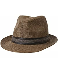 WITHMOONS Cappellini da baseball Cappello Fedora Hat Summer Cool Paper  Straw Trilby Band For Men CR6952 06fa1437b57c