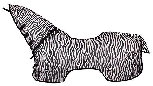 Pony Reiten Winter Sommer Outdoor Pferdedecke Hals Schutz Fly Tabelle, Zebra Print