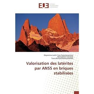Valorisation des latérites par ANSS en briques stabilisées