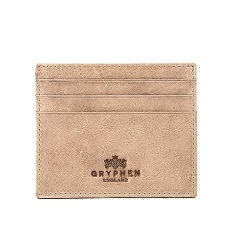 - Hoxton-Porte-carte de crédit en cuir fin avec Par Gryphen - Beige - Pierre,