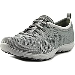 Skechers Women's Dreamstep Esteem Bungee Lace Sneaker,Gray,8