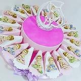 Torte Gastgeschenk mit Ballerina aus Keramik Effekt Porzellan Geburt Taufe Centrale confezionato