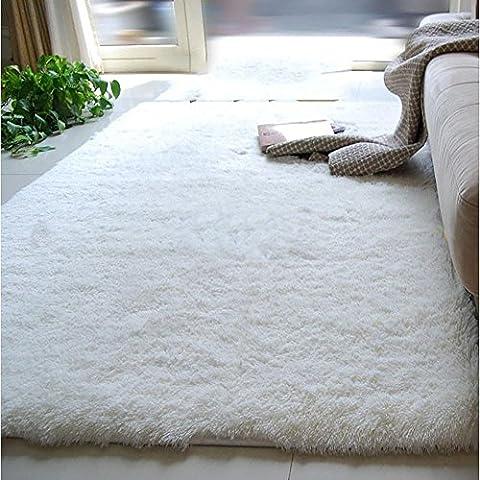 New day-Ultra - morbida seta lungo - haired soggiorno tavolino tappeto tappeto camera da letto non - tappetini antiscivolo , meters white , 200*300cm