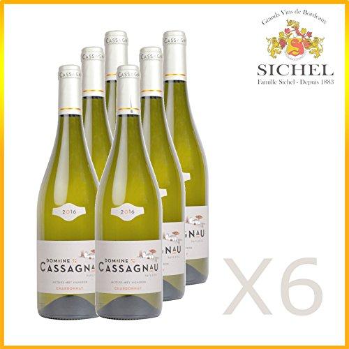 Domaine de Cassagnau x6 - Vin Blanc sec - Pays d'oc - 2016
