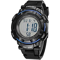 Unisex Sports Analog Digital Luminous Water Resistant Wrist Watches for Boys Girls(Blue)