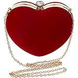 REFURBISHHOUSEBorse a forma di cuore di sera delle borse delle borse di sera delle borse della catena delle donne di sera de