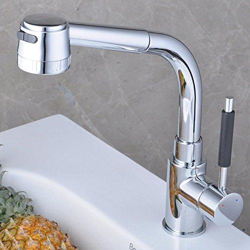 Gyps Faucet Waschtisch-Einhebelmischer Waschtischarmatur BadarmaturDas Waschbecken Küche Wasserhahn Küche Wasserhahn einziehbaren Pull-down-Drehung Wird Nicht der Splash Volle Messing Chrom Wasser