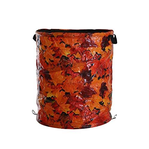 Xclou Garden Sac pour déchets de jardin Pop-Up, contenance de Env. 120 l, Env. 50 x 50 x 60 cm, orange, 122211