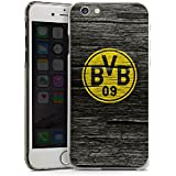 Apple iPhone 6 Hülle Schutz Hard Case Cover Borussia Dortmund BVB Holzoptik