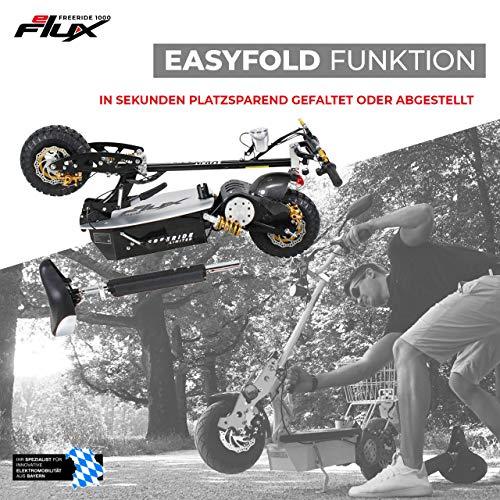 E-Scooter Roller Original E-Flux Freeride 1000 Watt 48 V mit Licht und Freilauf Elektroroller E-Roller in vielen Farben (Limited Gold) - 6