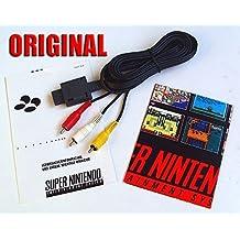 ORIGINAL Nintendo Chinch Cinch TV AV Kabel für: SNES Super Nintendo 64 N64 Game Cube