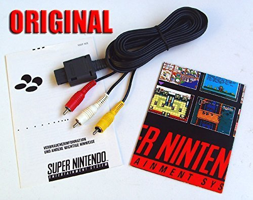 ORIGINAL Nintendo Chinch Cinch TV AV Kabel für: SNES Super Nintendo 64 N64 Game Cube (64 Nintendo Av-adapter)