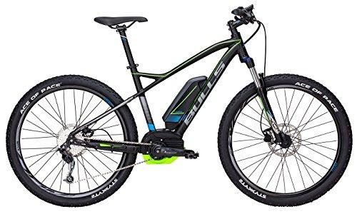 Bulls E-Bike Modell SIX50 E1 CX (2017) Elektrofahrrad 27.5 Zoll, E-Mountainbike - Lithium Ionen Akku, 400Wh, 9 Gang-Kettenschaltung, schwarz