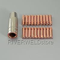 21 piezas MB 15 AK MAG Soplete de soldadura Consejos de contacto 140,0008 M6 x0,6 Boquilla de gas 145,0075