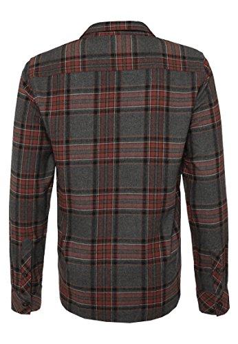 Urban Surface Herren Flanellhemd Langarm Kariert | Business- & Freizeithemd Aus Baumwolle Regular Fit Red
