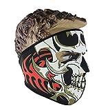 Bibabo25Anti-Staub Gesichtsmaske mit Schädelmotiv zum Warmhalten für den Außenbereich, Motorradfahren, Radfhren, Skilaufen. , 1#