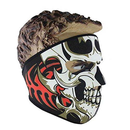 Bibabo25Anti-Staub Gesichtsmaske mit Schädelmotiv zum Warmhalten für den Außenbereich, Motorradfahren, Radfhren, Skilaufen. , ()