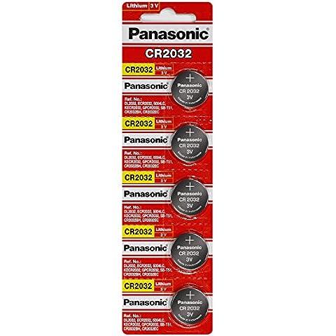 Panasonic Cr2032 3V Lithium Knopfzellen DL2032 Ecr2032 10 Stück