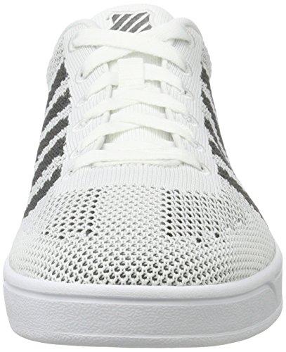 K-Swiss Unisex-Erwachsene Addison Pique Sneakers Grau(WHITE/DARK SHADOW)