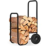 Generic * * Art Wood cart carrello di legno di legno carrello FI ardere D cestino S Caddy trolley Carrier Caddy trolley Carri Firewood Log carrello CK Caddy Troll carrello