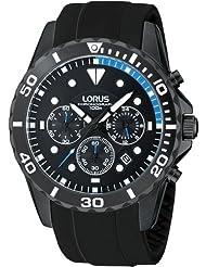 Lorus RT339BX9 - Reloj cronógrafo de cuarzo para hombre, correa de caucho color negro