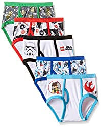 Handcraft Boys 2-7 Lego Star Wars 5 Pack Underwear Brief, Multi, 6