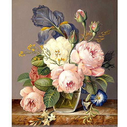 Forlingnight Parfum Fait à la Main Peinture Toile de Belle Peinture par des Cadeaux Surprise Cadeau de Grand accomplissement avec Cadre