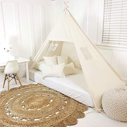 NACEO Faltbares Tipi Zelt Weiß Für Prinzessin Mädchen Geburtstag Kind Geschenk Zelt Bett Spielzeug Haus Dekoration -