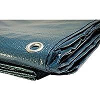 Lona de protección 2x 3m 150g/m², de plástico, exterior,impermeable. Protección de leña. Protección de pintura.