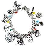 Beaux Bijoux Fluch der Karibik Charm Armband - Silberton Totenkopf, Schwert und Schiff Charms in Geschenkbox