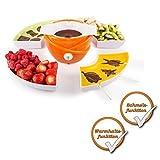 3in1 Elektrisches Schokoladen-Fondue-Set mit Silikonformen zur Herstellung von Pralinen und Lollies