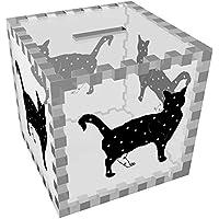 Preisvergleich für Azeeda 'Stehende Stern Katze' Klar Sparbüchse / Spardose (MB00046561)